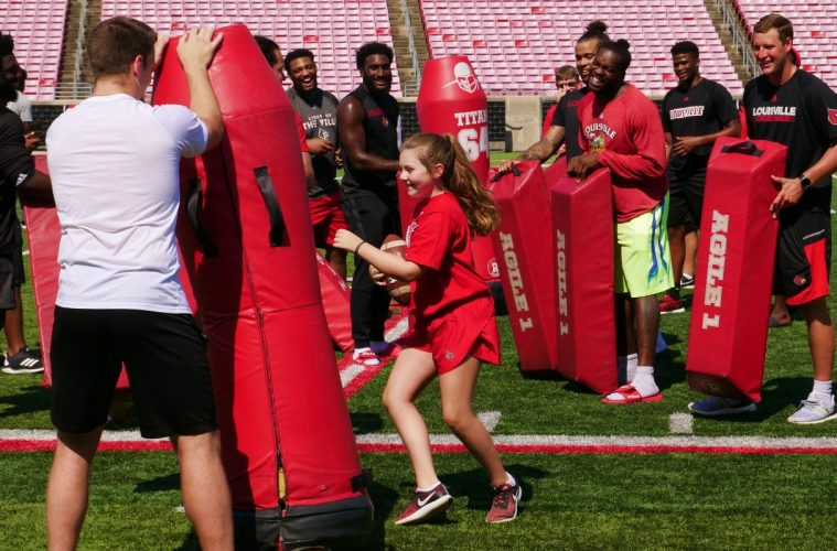 Camp Courage 2019 Louisville Football 7-26-2019. Photo by Tom Farmer, TheCrunchZone.com