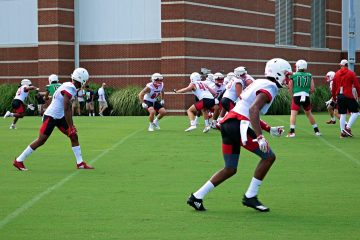 Louisville Football Fall Camp 8-4-2019. Photo by Tom Farmer, TheCrunchZone.com