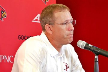 Scott Satterfield Louisville Football Media Day 8-10-2019. Photo by Tom Farmer, TheCrunchZone.com