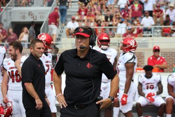 Scott Satterfield Louisville vs. Florida State 9-21-2019 Photo by Mark Blankenbaker TheCrunchZone.com