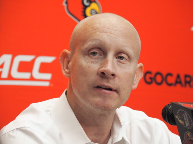 Chris Mack Louisville Basketball Media Day 10-26-2019 Photo by Cindy Rice Shelton, TheCrunchZone.com
