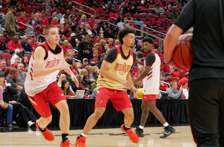 Ryan McMahon, Jordan Nwora Red/White Scrimmage 10-12-2019 TheCrunchZone.com, Photo by Tom Farmer