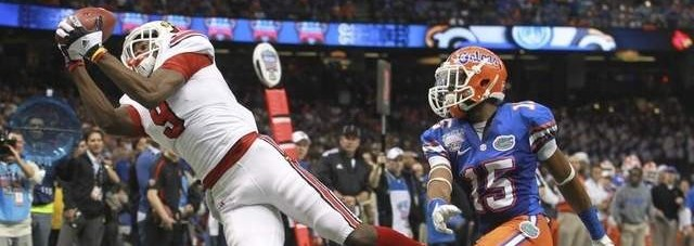 DeVante Parker Louisville vs. Florida 2013 Sugar Bowl Photo by Mike Lindsay Fitted