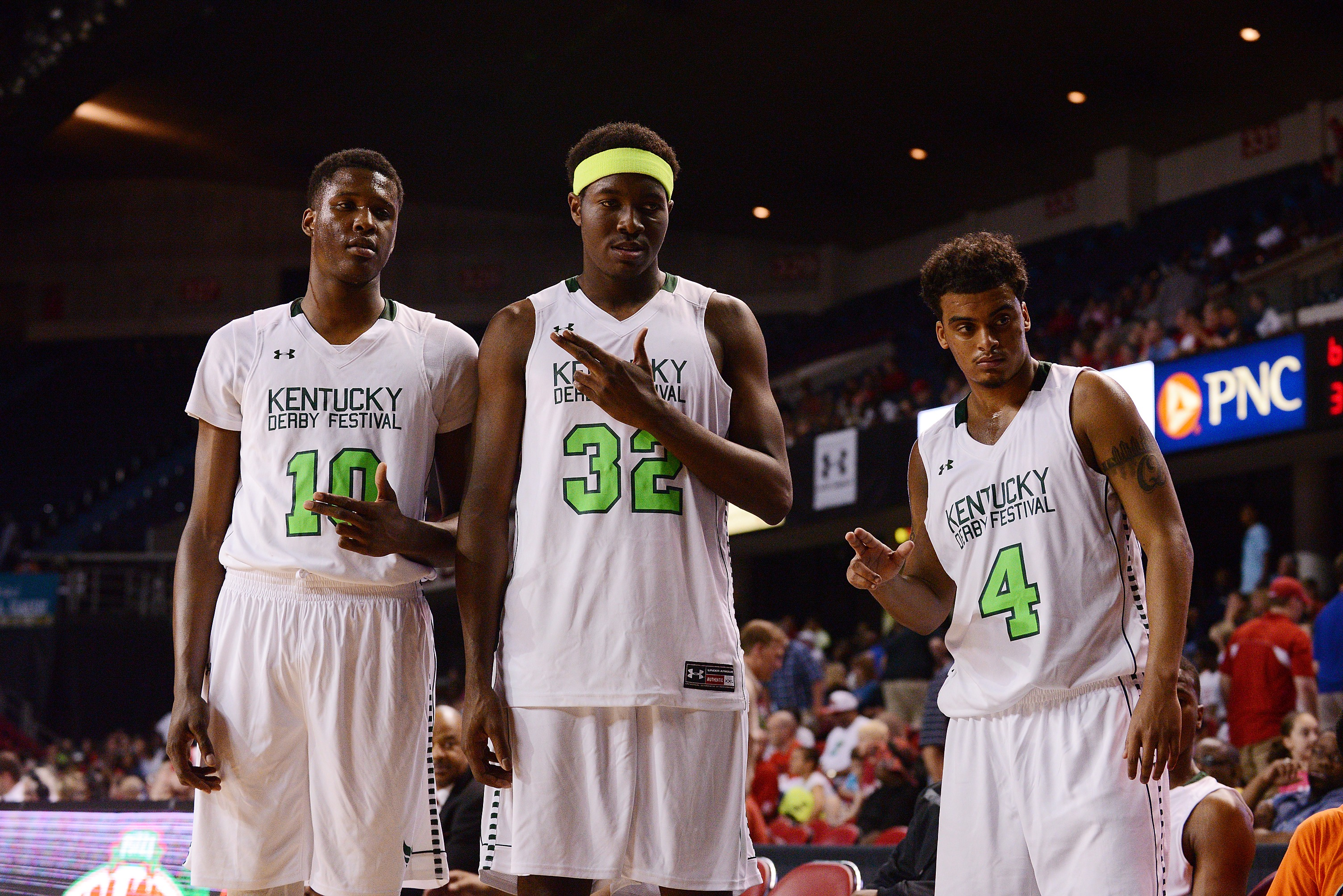 Jaylen Johnson, Chinanu Onuaku, and Quentin Snider 2014 Kentucky Derby Classic Photo by Adam Creech