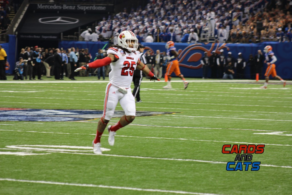 2013 Sugar Bowl Calvin Pryor Louisville vs. Florida Photo by Mike Lindsay