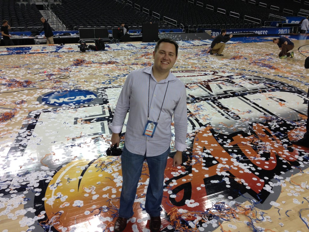 Mark Blankenbaker 2013 National Championship Floor Georgia Dome Atlanta, GA