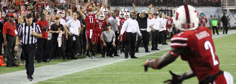 Michaelee Harris Touchdown Fitted Louisville vs. Miami 2013 Russell Athletic Bowl