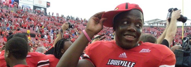 Teddy Bridgewater Fitted 2012 Governor's Cup Louisville vs. Kentucky Photo by Connor Galle