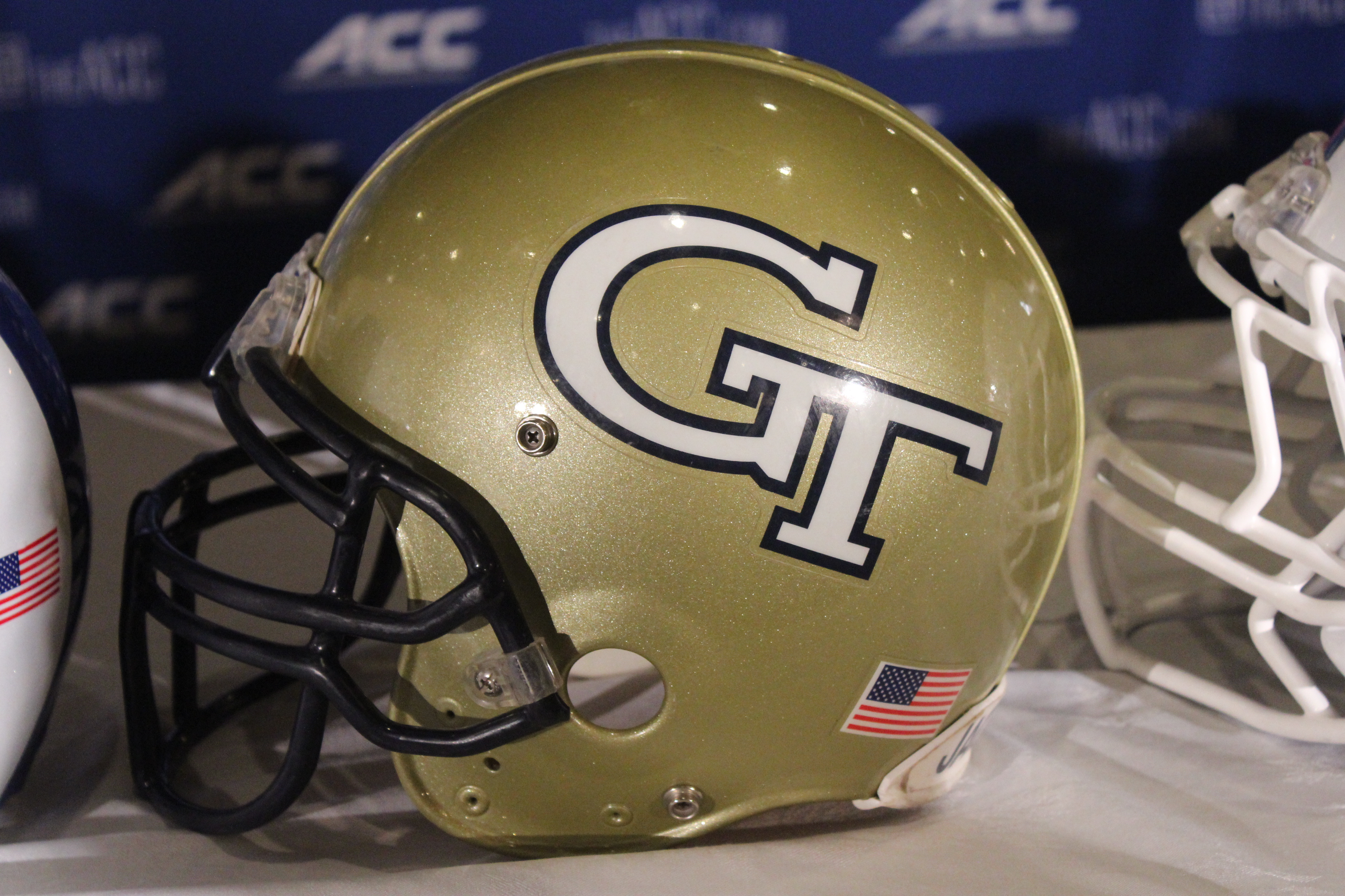 Georgia Tech Helmet 2014 ACC Kickoff Photo By Mark Blankenbaker