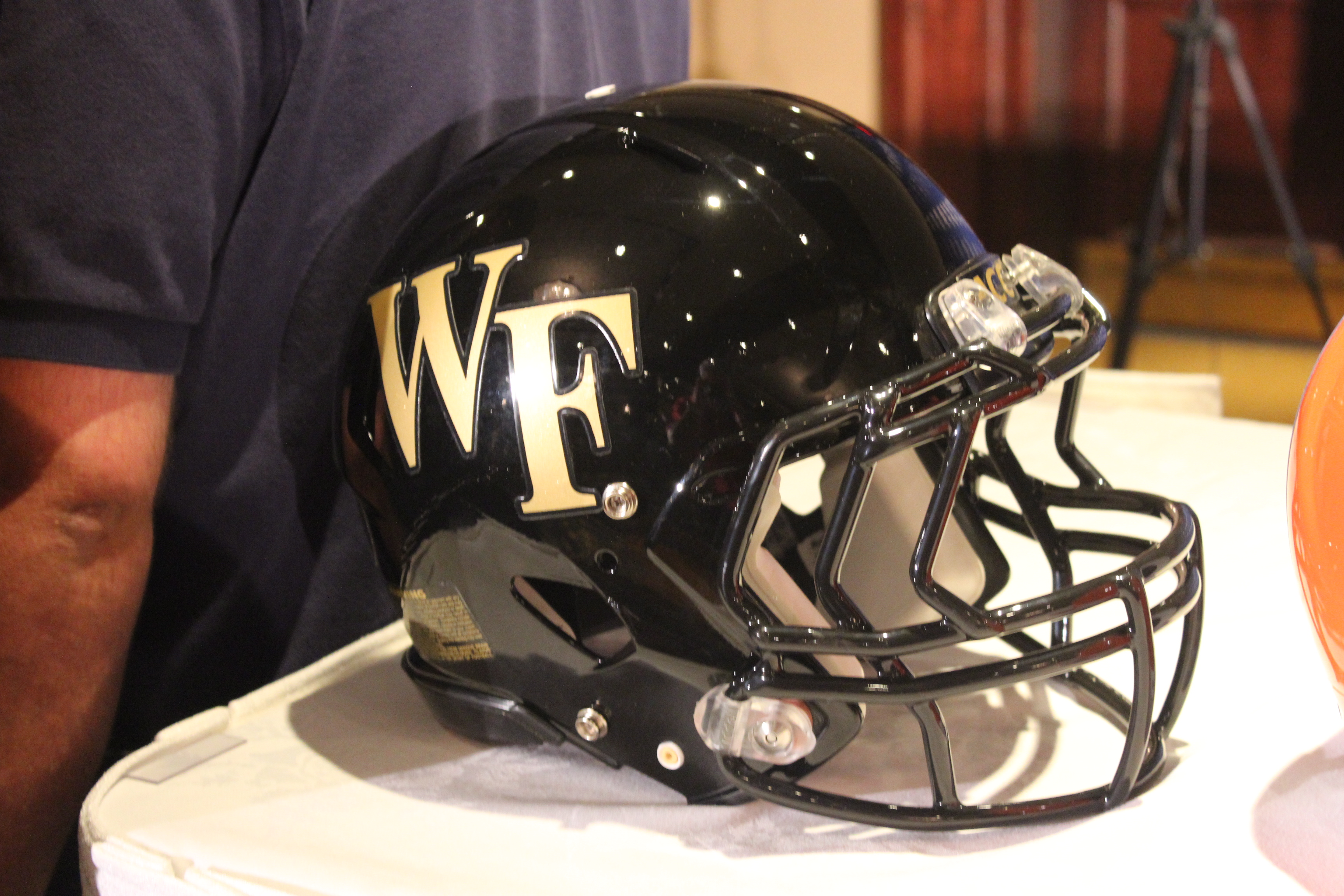 Wake Forest Helmet 2014 ACC Kickoff Photo by Mark Blankenbaker