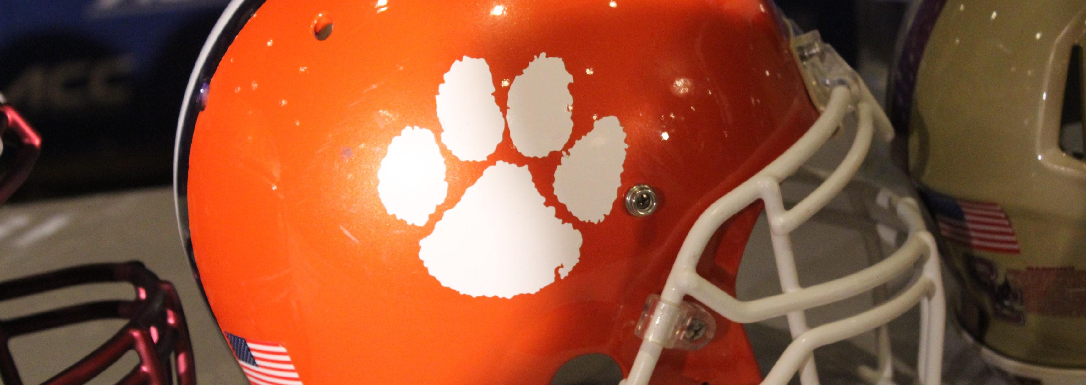 Clemson Helmet Fitted 2014 ACC Kickoff Photo by Mark Blankenbaker