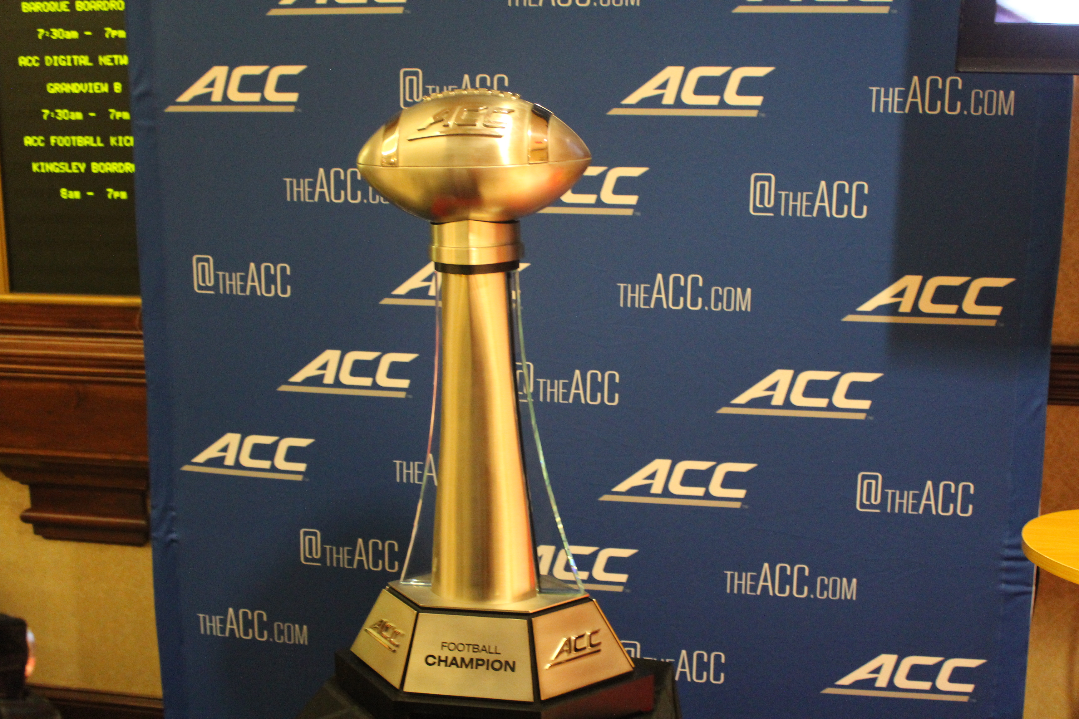 ACC Championship Trophy 2014 ACC Kickoff Photo by Mark Blankenbaker