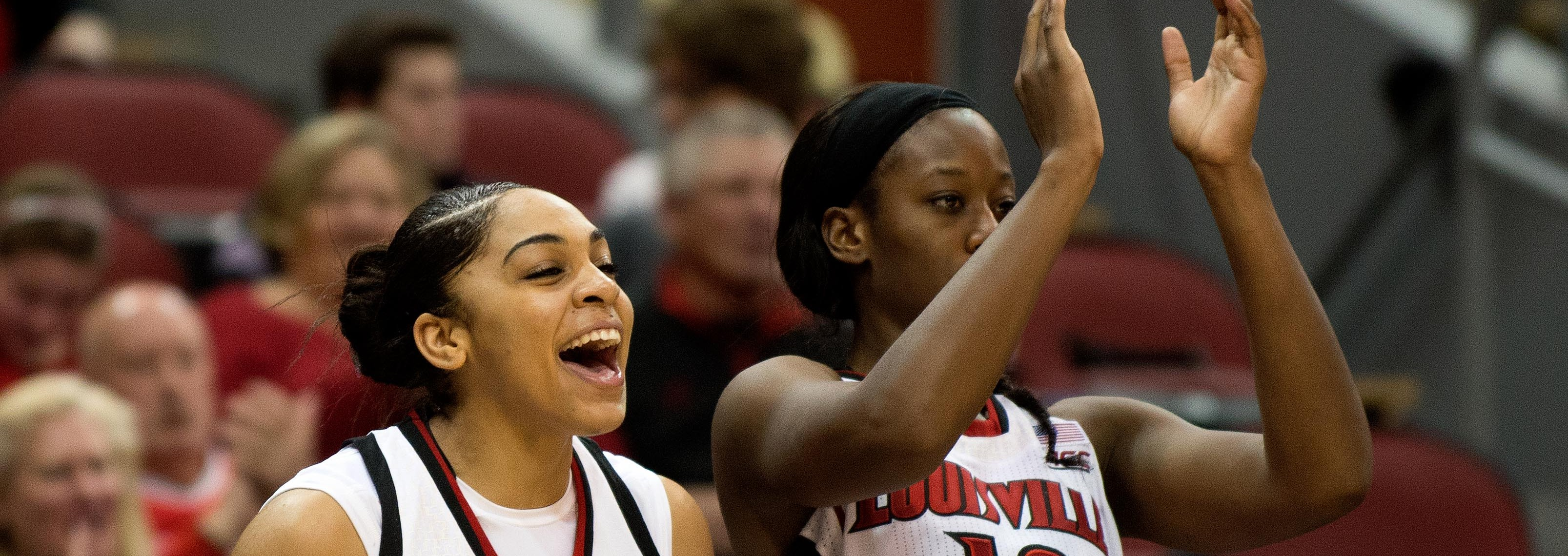 Bria Smith & Shawnta' Dyer Louisville vs. Belmont Photo By Adam Creech