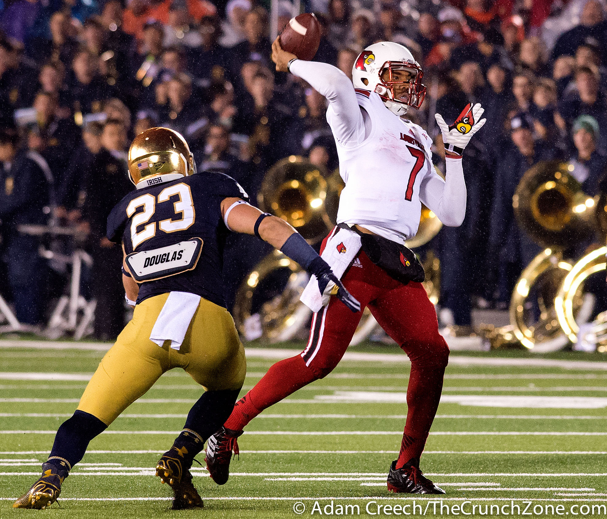 Reggie Bonnafon Louisville vs. Notre Dame Photo by Adam Creech