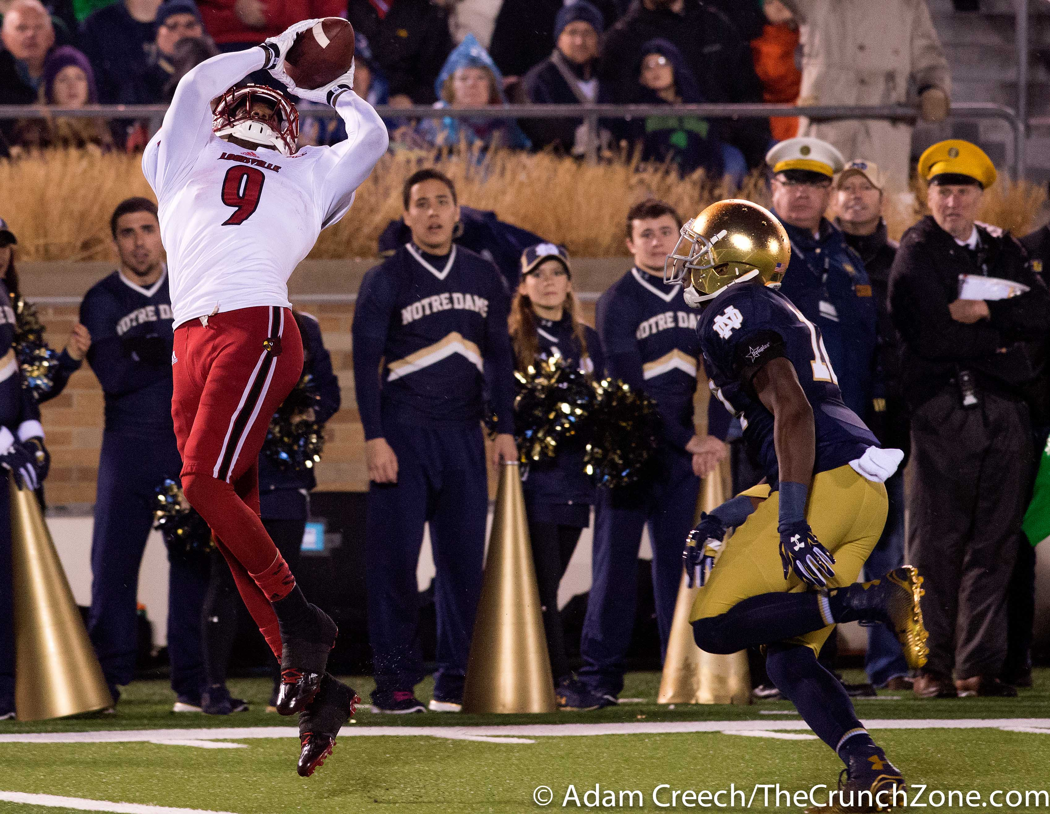 DeVante Parker Louisville vs. Notre Dame Photo by Adam Creech