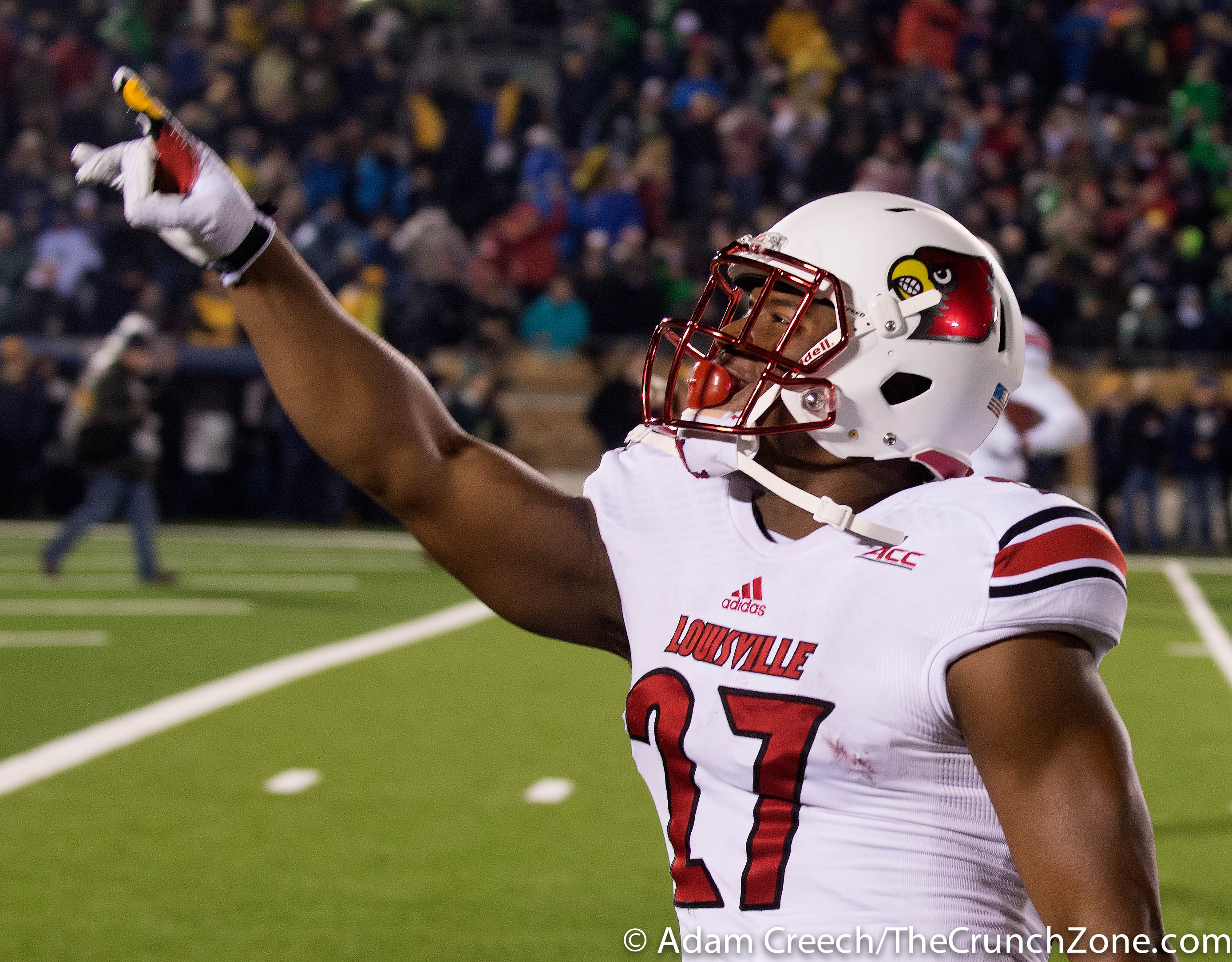 L.J. Scott Louisville vs. Notre Dame Photo by Adam Creech