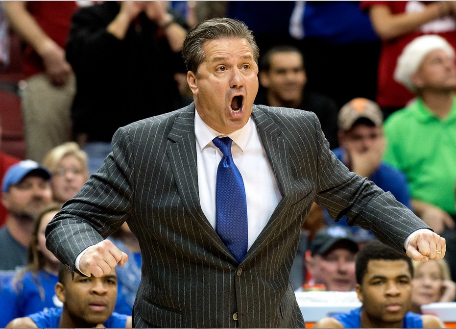 John Calipari Louisville vs. Kentucky 12-27-2014 Photo by Adam Creech