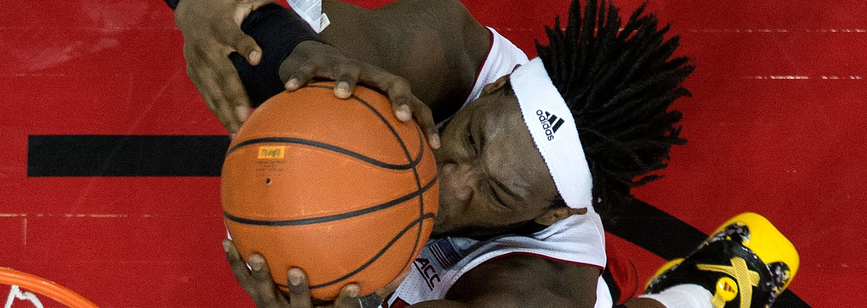 Montrezl Harrell Louisville vs. Pittsburgh 2-11-2015 Photo by Adam Creech Fitted