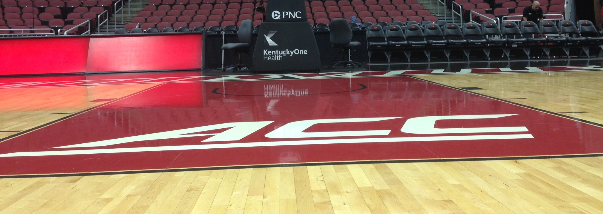 Louisville Basketball Yum! Center Floor Fiited Photo by Mark Blankenbaker Fitted