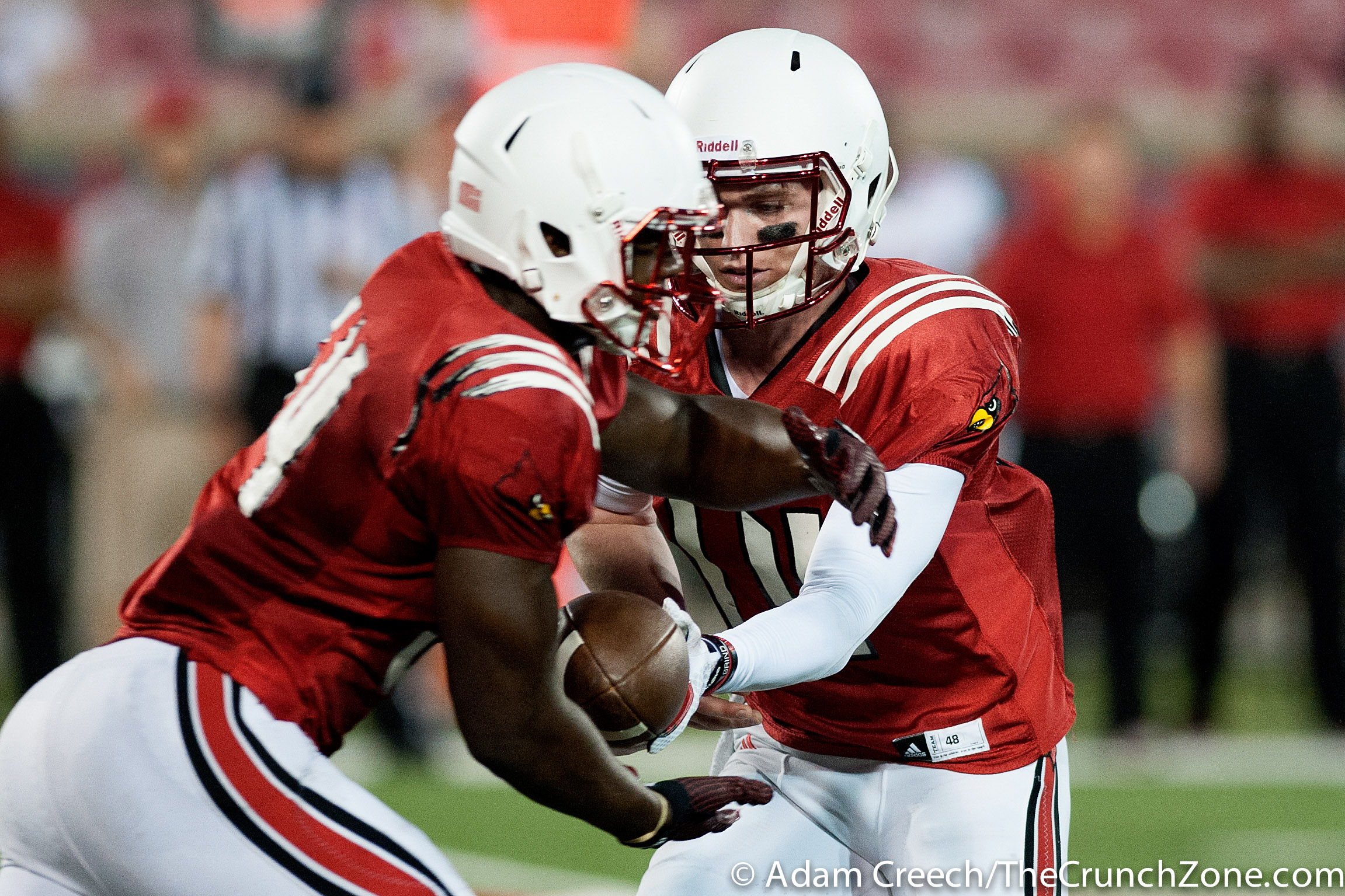 Kyle Bolin, Jeremy Smith 2015 Louisville Spring Game 4-17-2015 Photo by Adam Creech