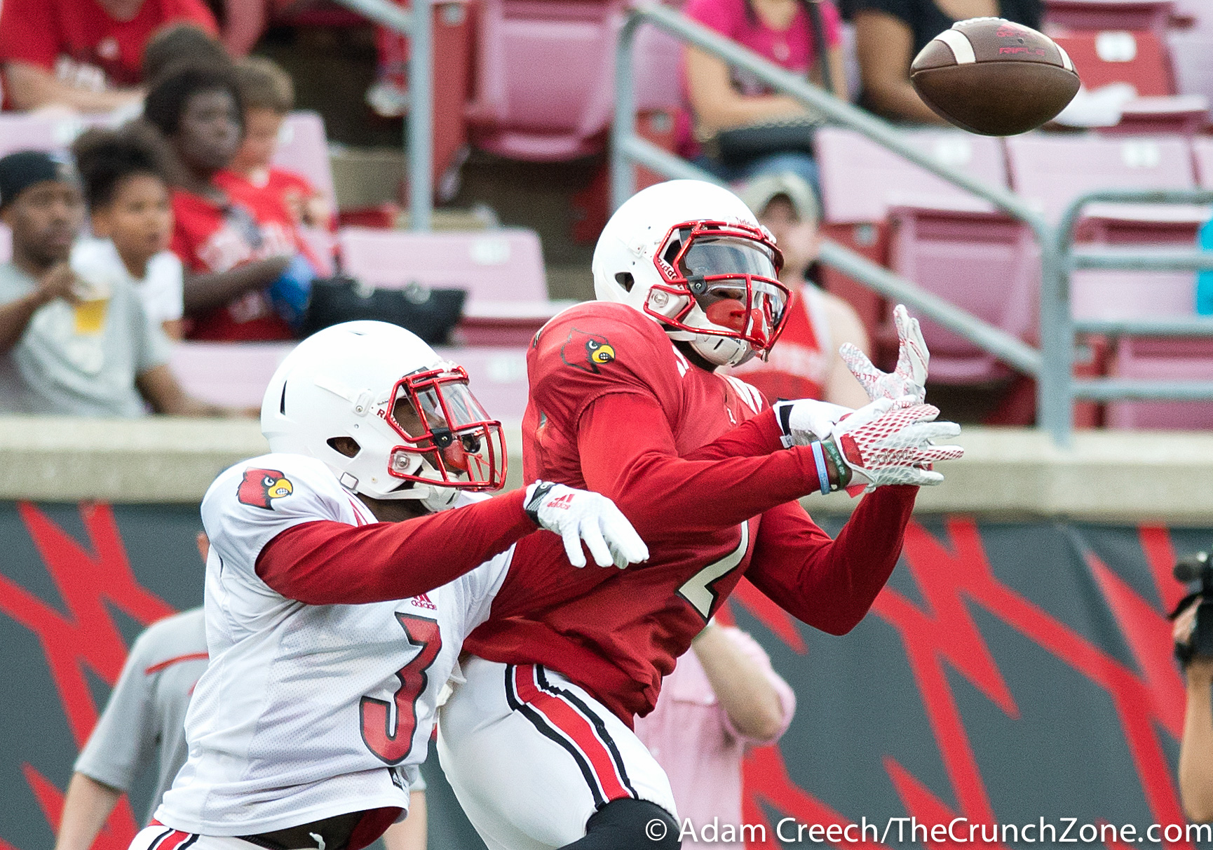 Jamari Staples, Cornelius Sturghill 2015 Louisville Spring Game 4-17-2015 Photo by Adam Creech