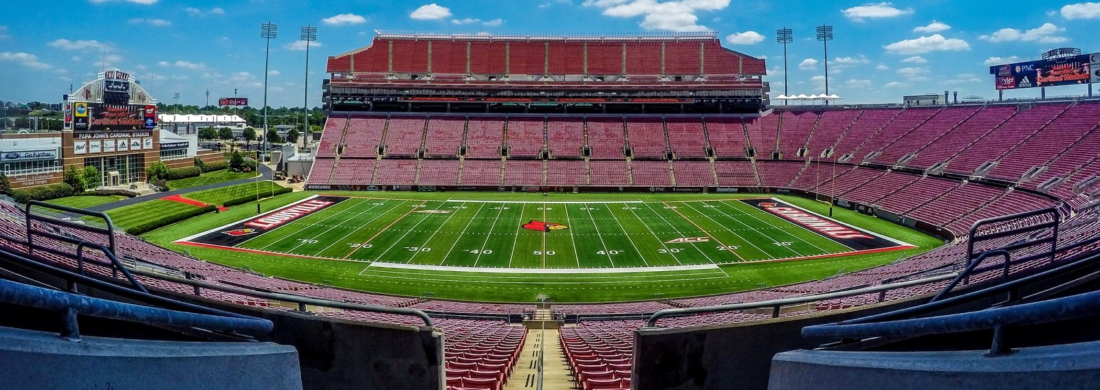 Papa John's Cardinal Stadium Fitted Photo by Seth Bloom