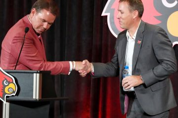 Scott Satterfield, Vince Tyra Introductory Press Conference 12-4-2018 Photo by William Caudill, TheCrunchZone.com
