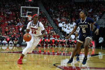 Jazmine Jones Louisville vs. Georgia Tech 1-13-2019 Photo by William Caudill TheCrunchZone.com