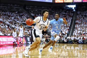 Jordan Nwora Louisville vs. North Carolina 2-2-2019 Photo by William Caudill, TheCrunchZone.com