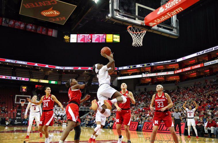 Dana Evans Louisville vs. Nebraska 11-29-2018 Photo by William Caudill, TheCrunchZone.com
