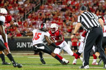 Malik Cunningham Louisville vs. Western Kentucky 9-15-2018 Photo by William Caudill, TheCrunchZone.com