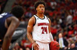 Dwayne Sutton Louisville vs. Akron 11-24-2019 Photo by William Caudill, TheCrunchZone.com