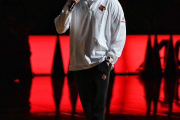 Chris Mack Louisville Basketball Red/White Scrimmage 10-21-2018 Photo by William Caudill