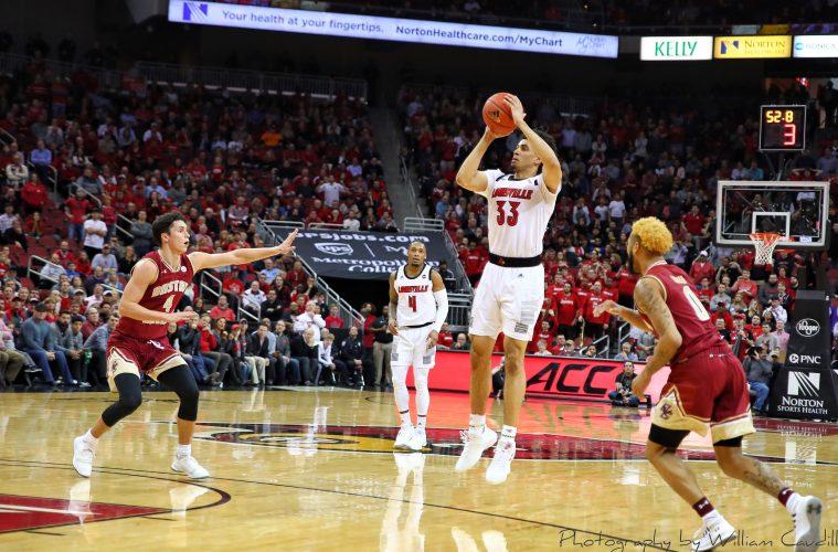 Jordan Nwora Louisville vs. Boston College 1-16-2019 Photo by William Caudill TheCrunchZone.com