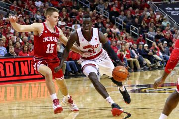 Deng Adel Louisville vs. Indiana 12-9-2017 Photo by William Caudill, TheCrunchZone.com