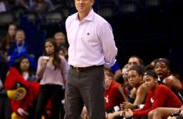 Jeff Walz Louisville vs. Baylor NCAA Sweet 16 3-24-2017, Oklahoma City, OK Photo by William Caudill