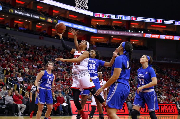 Asia Durr Louisville vs. Middle Tennessee 12-9-2017 Photo by William Caudill, TheCrunchZone.com