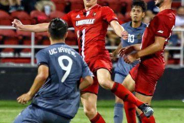 Adrien Cabon Louisville vs. UC Irvine 8-25-2017 Photo by William Caudill, TheCrunchZone.com
