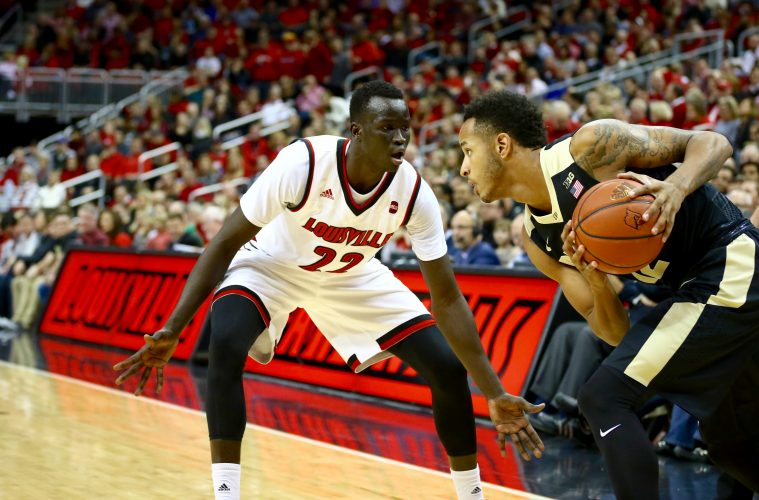Deng Adel Louisville vs. Purdue 11-30-2016 Photo by William Caudill TheCrunchZone.com