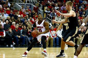 Donovan Mitchell Louisville vs. Purdue 11-30-2016 Photo by William Caudill TheCrunchZone.com