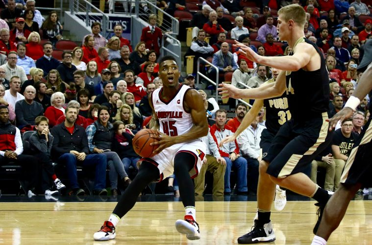 Donovan Mitchell Louisville vs. Purdue 11-30-2016 Photo by William Caudill TheCrunchZone.com