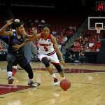 Taja Cole Louisville vs. Central Arkansas 3-18-2016 Photo by William Caudill