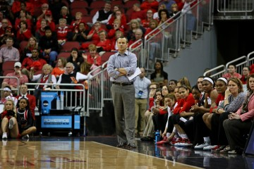 Jeff Walz Louisville vs. Central Arkansas 3-18-2016 Photo by William Caudill
