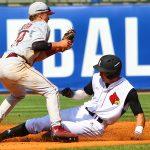 Slide Louisville Baseball vs. Florida State ACC Tournament 5-26-2017 Photo by William Caudill at Louisville Slugger Field TheCrunchZone.com