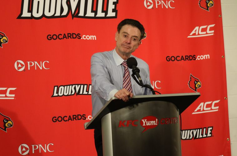Rick Pitino Louisville vs. Duke 1-14-2017 Photo By William Caudill TheCrunchZone.com