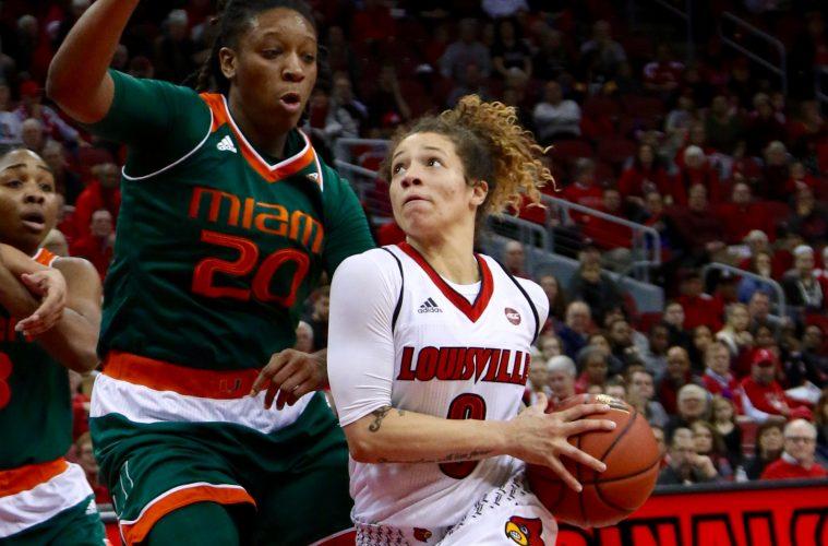 Briahanna Jackson Louisville vs. Miami 1-15-2017 Photo By William Caudill TheCrunchZone.com