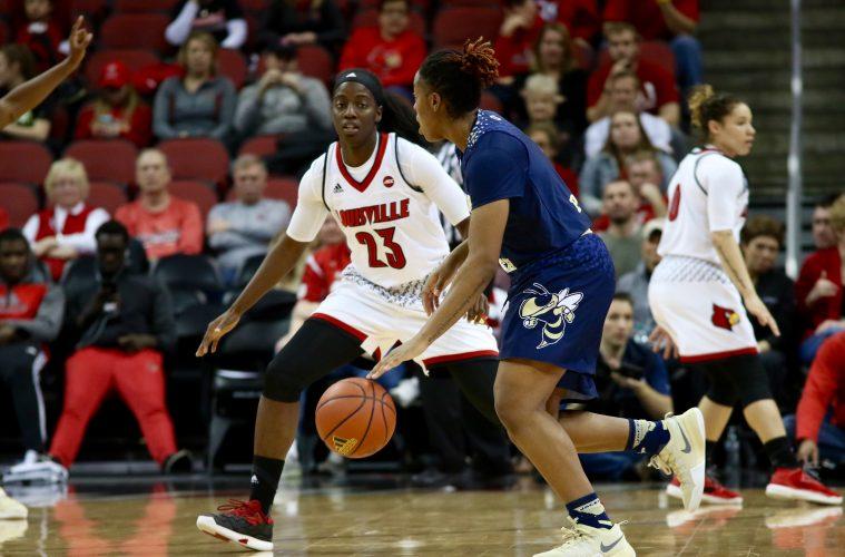 Jazmine Jones Louisville vs. Georgia Tech 1-18-2017 Photo By William Caudill TheCrunchZone.com
