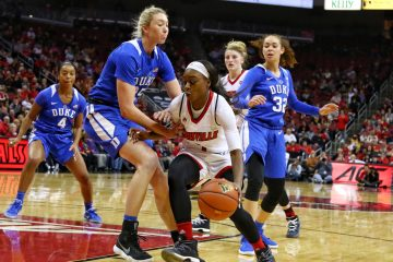 Dana Evans Louisville vs. Duke 1-4-2018 Photo by William Caudill, TheCrunchZone.com