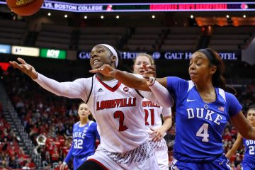 Myishia Hines-Allen Louisville vs. Duke 1-4-2018 Photo by William Caudill, TheCrunchZone.com