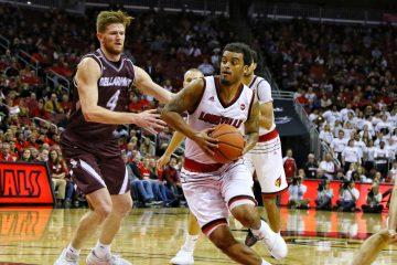 Quentin Snider, Louisville Basketball vs. Bellarmine by William Caudill, 11-7-2017, TheCrunchZone.com